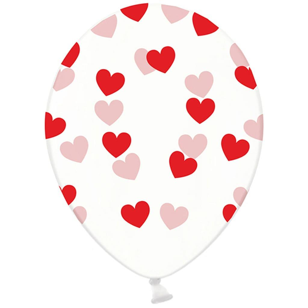 Balões Corações Vermelhos, Latex, 30 Cm