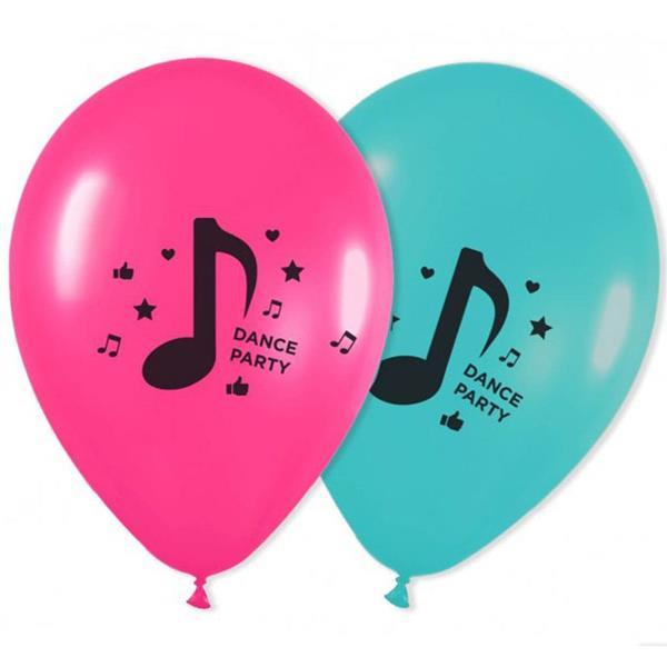 Balões Dance Party Látex, 8 unid.
