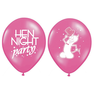 Balões Despedida Solteira Rosa, 6 un.