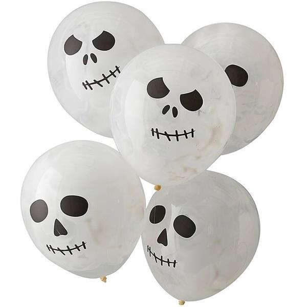 Balões Esqueleto Látex, 5 unid.