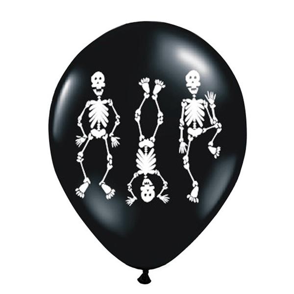 Balões Esqueletos, 6 Unid.