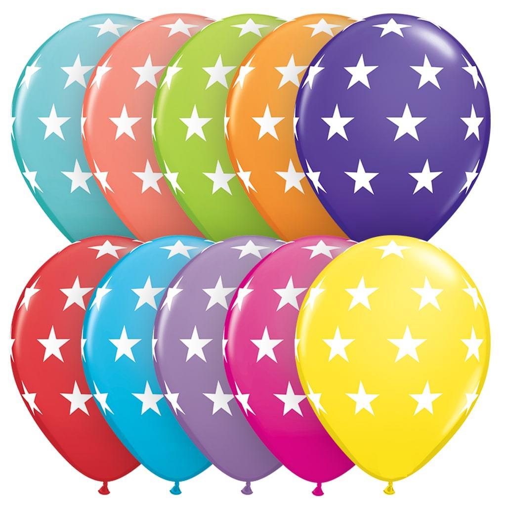 Balões Estrela Multicor Latex 6 Unid.