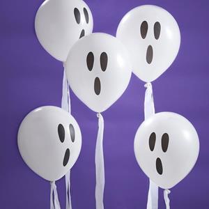Balões Fantasmas Halloween Látex, 10 unid.