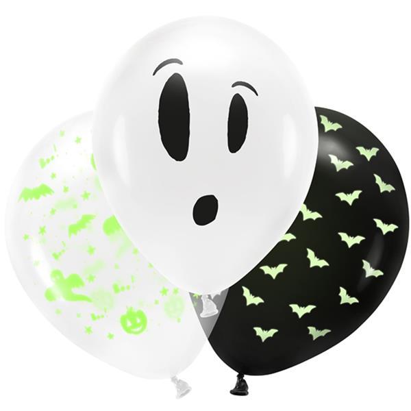Balões Fluorescentes BOO Latex, 3 unid.