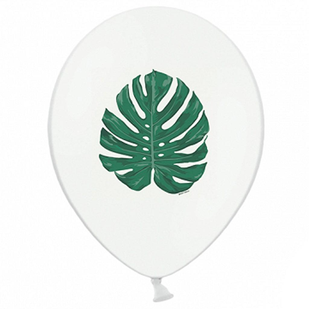 Balões Folhas Aloha Latex, 6 unid.