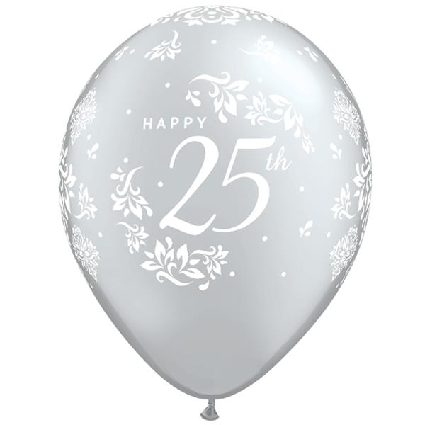 Balões Happy 25th Latex 6unid.