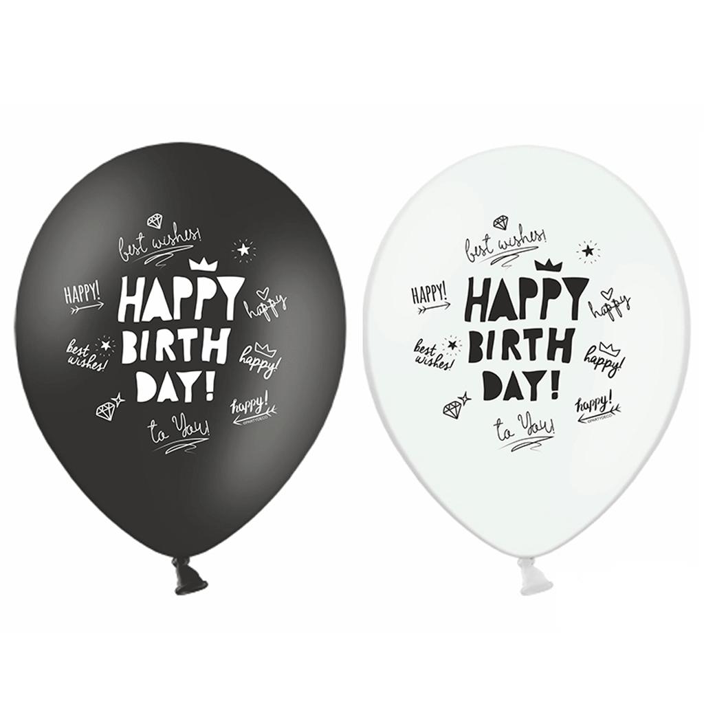 Balões Happy Birthday Lettering, 6un