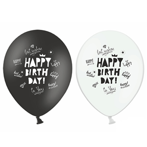 Balões Happy Birthday Lettering, 6un