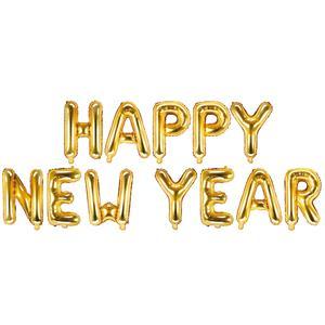 Balões Happy New Year Dourado Foil, 370 x 35 cm