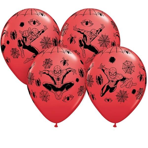 Balões Homem Aranha, 6 Unid.