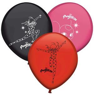 Balões LadyBug Látex, 8 unid.