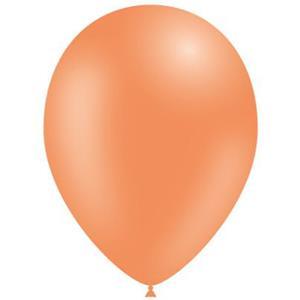 Balões Laranja Pastel Látex, 14 cm, 100 unid.