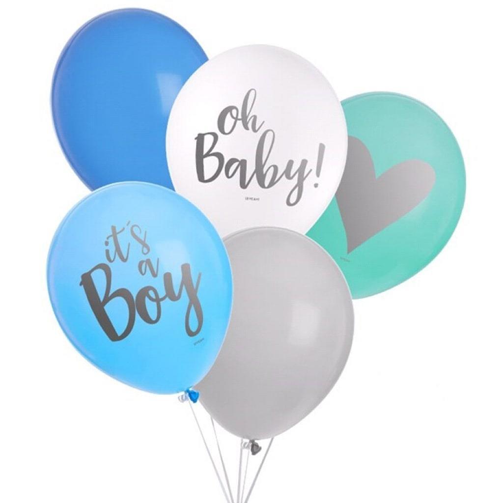 Balões Látex Multicolor It´s a Boy, 8 unid.