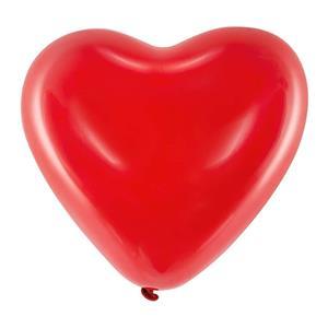 Balões Latex Coração Vermelho, 6 unid.