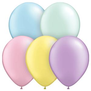 Balões Látex Cores Pastel, 50 Unid.