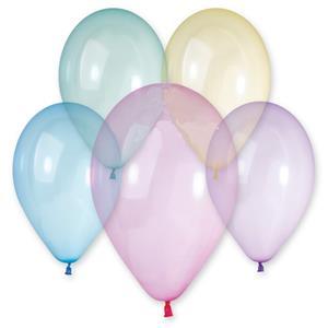 Balões Latex Crystal Rainbow, 30 cm, 50 unid.