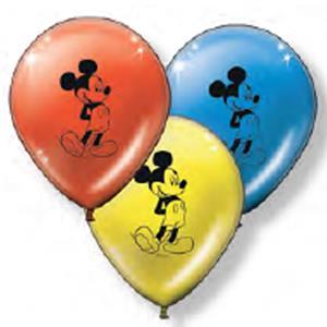 Balões Látex Mickey e Minnie, 8 unid.