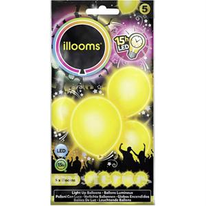 Balões Led Amarelo 5 un
