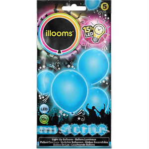 Balões Led Azul 5 un