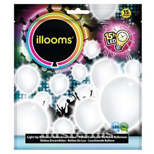 Balões Led Branco 15 un