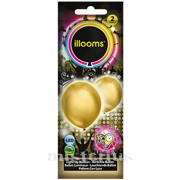 Balões Led Dourado 2 un