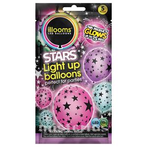 Balões Led Estrelas 5 un