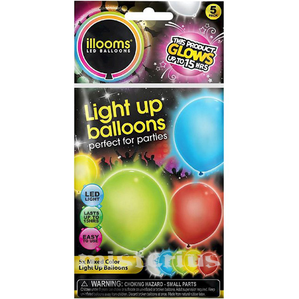 Balões Led Multicor 5 un