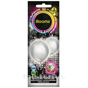 Balões Led Prata 2 un