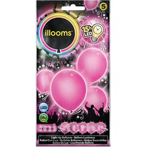 Balões Led Rosa 5 un