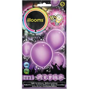 Balões Led Roxo 5 un