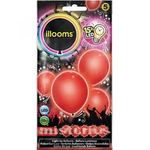 Balões Led Vermelho 5 un