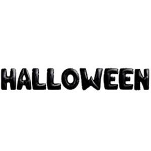 Balões Letras Halloween Preto Foil, 40 cm