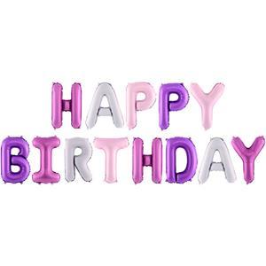 Balões Letras Happy Birthday Foil, 340 x 35 cm
