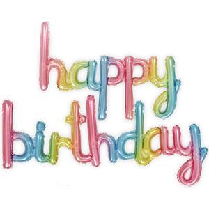 Balões Letras Happy Birthday Multicolor Foil