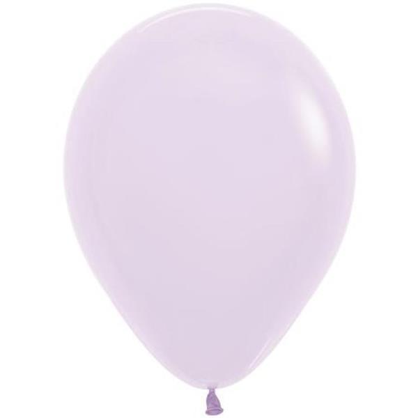 Balões Lilás Pastel Látex, 14 cm, 100 unid.