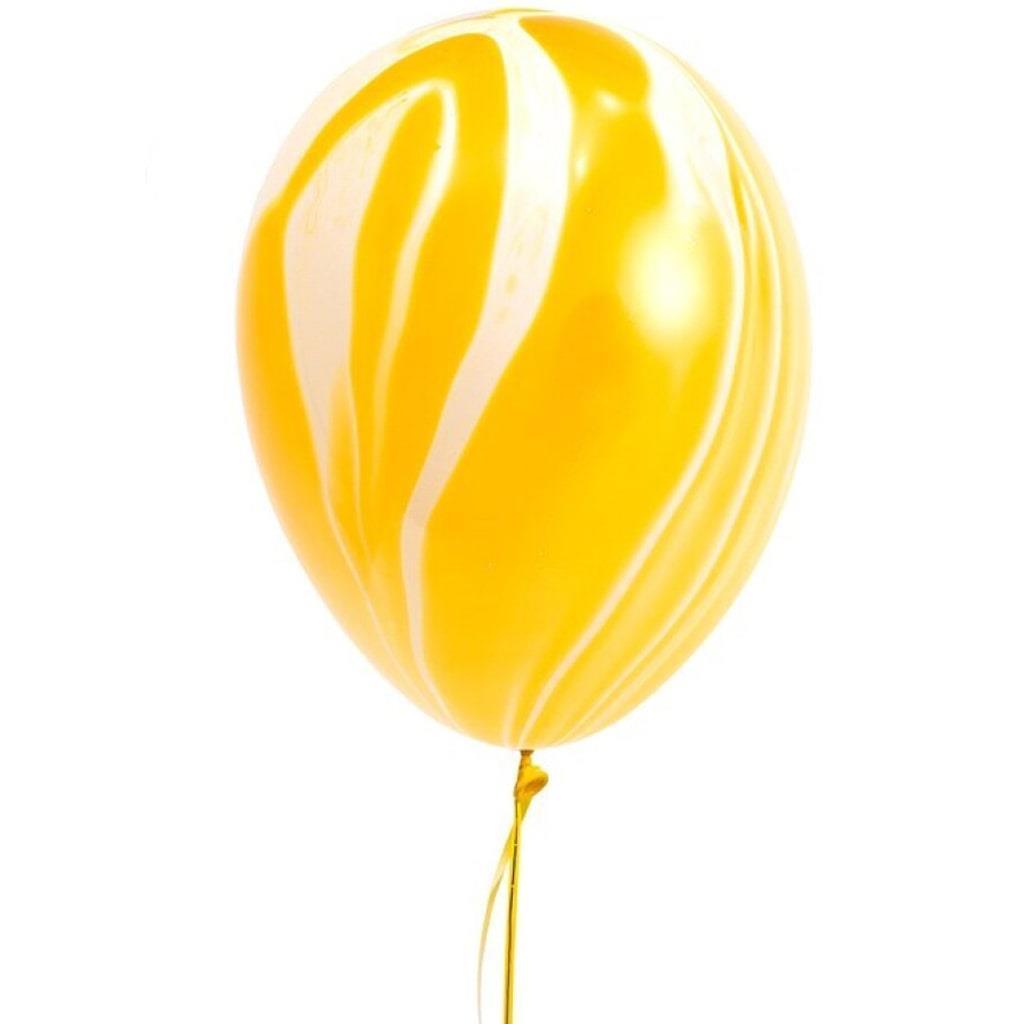 Balões Mármore Amarelo, 5 unid.