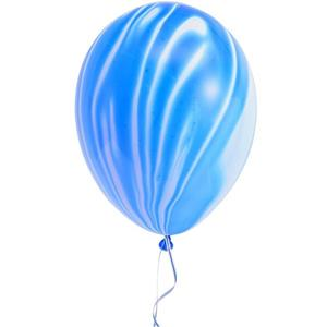 Balões Mármore Azul, 5 unid.