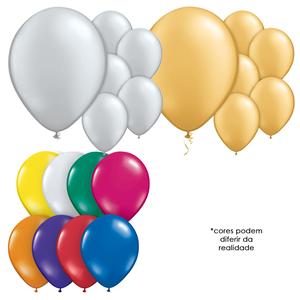 Balões Metalizados, 50 Unid.
