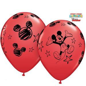 Balões Mickey Latex, 6 unid.