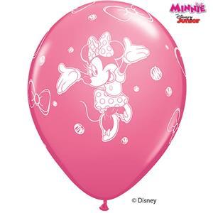 Balões Minnie Latex, 6 unid.