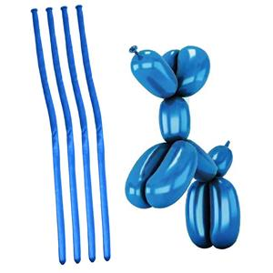 Balões Modelar Azul Cromado, 20 unid.