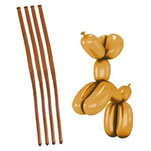 Balões Modelar Dourado Cromado, 20 unid.