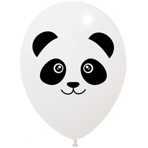 Balões Panda Latex, 6 unid.
