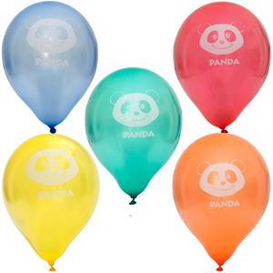 Balões Panda Multicolor Látex, 10 unid.