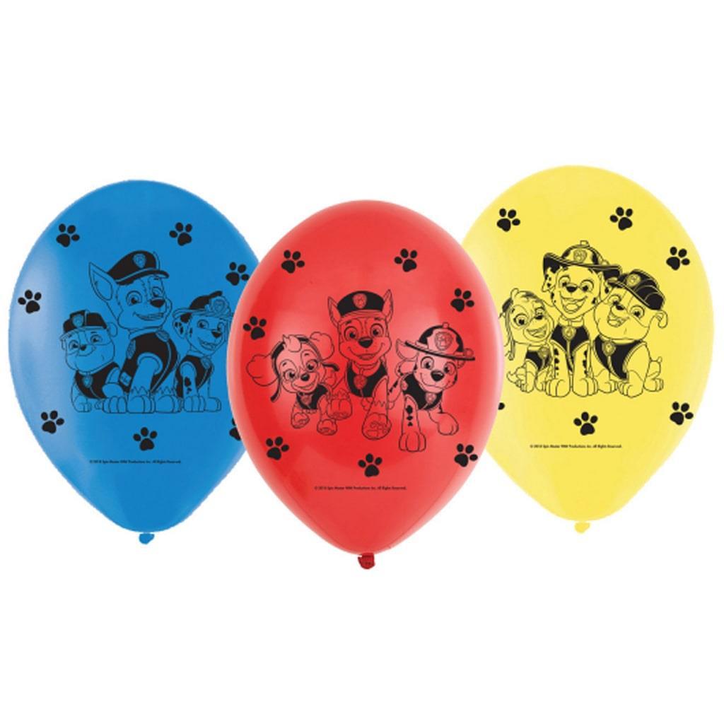 Balões Patrulha Pata, 6 unid.