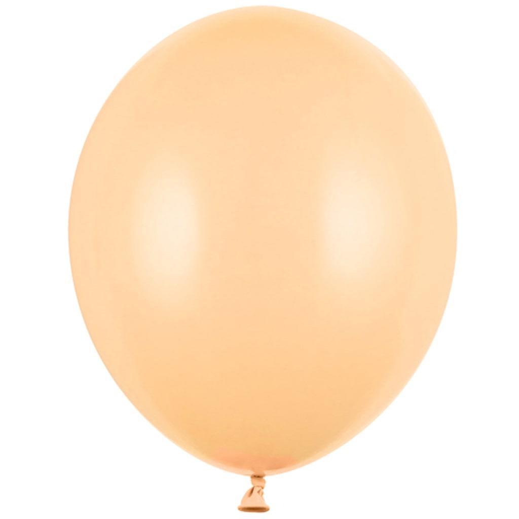 Balões Pêssego Pastel Látex, 30 cm, 10 unid.