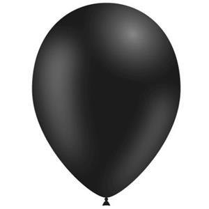 Balões Pretos Látex, 14 cm, 100 unid.