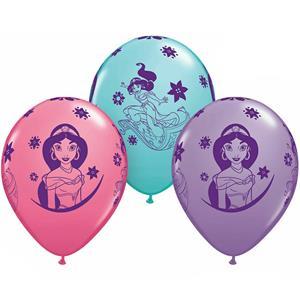 Balões Princesa Jasmine Látex, 6 unid.