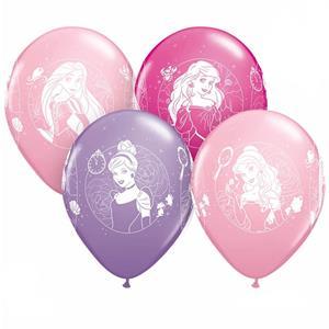 Balões Princesas Disney Látex, 6 unid.