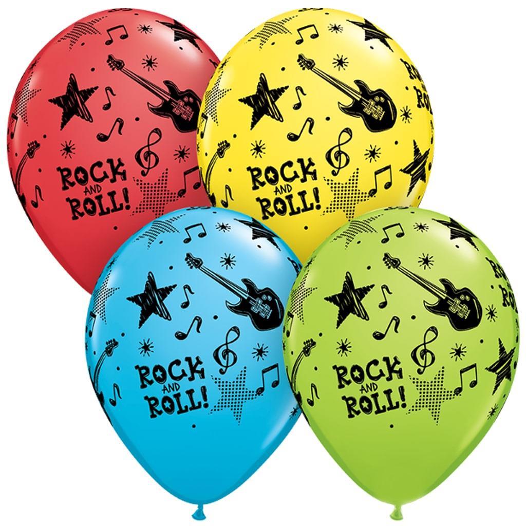 Balão Rock And Roll Multicor